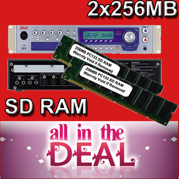 512MB Sampler Memory Akai Z4 Z8 MPC4000 2 x 256MB RAM
